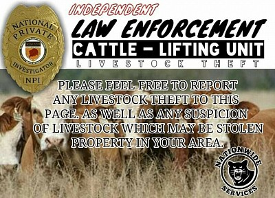 Suspicion of a Cattle Theft Contact 072 613 9925